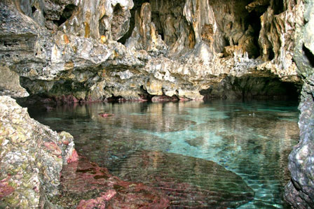 Cave pools in Niue